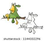 vector illustration of a cute...   Shutterstock .eps vector #1144332296