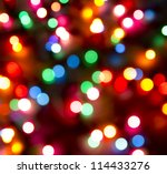 Defocused Christmas Lights...