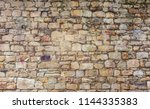 texture of stone wall outdoors | Shutterstock . vector #1144335383