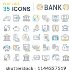 set of vector line icons of... | Shutterstock .eps vector #1144337519