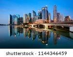 beautiful singapore cityscape...   Shutterstock . vector #1144346459