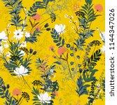summer blooming in the garden... | Shutterstock .eps vector #1144347026