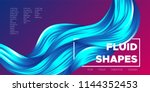 abstract flow background. wave... | Shutterstock .eps vector #1144352453