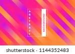 lines with colorful gradient.... | Shutterstock .eps vector #1144352483