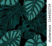 vector tropic seamless pattern. ... | Shutterstock .eps vector #1144352729