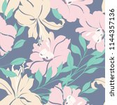 elegance pattern with flowers... | Shutterstock .eps vector #1144357136