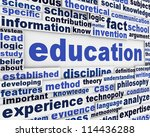 education poster design.... | Shutterstock . vector #114436288