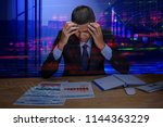 bad investment or economic... | Shutterstock . vector #1144363229