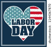 labor day card | Shutterstock .eps vector #1144367870