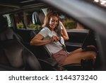 young smiling happy attractive...   Shutterstock . vector #1144373240
