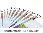 five euro notes | Shutterstock . vector #114437839