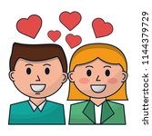 business people with hearts icon | Shutterstock .eps vector #1144379729