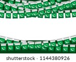 pakistan independence day... | Shutterstock .eps vector #1144380926