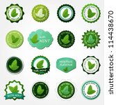 collection of mint labels   Shutterstock .eps vector #114438670