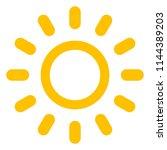 sun icon with beams  as vector... | Shutterstock .eps vector #1144389203
