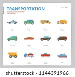 transportation icon set | Shutterstock .eps vector #1144391966