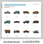 transportation icon set | Shutterstock .eps vector #1144391990