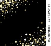 diagonal border from confetti...   Shutterstock .eps vector #1144393469