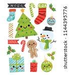 vector illustration of cute...   Shutterstock .eps vector #1144395776