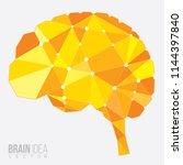 brain polygon  vector... | Shutterstock .eps vector #1144397840