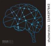 brain polygon  vector... | Shutterstock .eps vector #1144397843