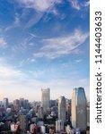 cityscape of tokyo city skyline ... | Shutterstock . vector #1144403633