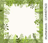 background with green leaves... | Shutterstock .eps vector #1144407623