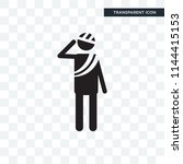injury vector icon isolated on... | Shutterstock .eps vector #1144415153