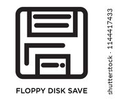floppy disk save button icon... | Shutterstock .eps vector #1144417433