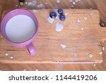 oatmeal  porridge  porridge... | Shutterstock . vector #1144419206
