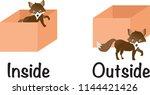 inside outside fox vector | Shutterstock .eps vector #1144421426