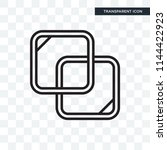 overlap vector icon isolated on ...   Shutterstock .eps vector #1144422923