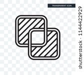 overlap vector icon isolated on ...   Shutterstock .eps vector #1144422929