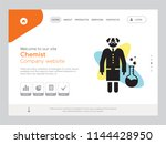 quality one page chemist... | Shutterstock .eps vector #1144428950