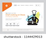 quality one page chef cooking... | Shutterstock .eps vector #1144429013