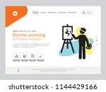 quality one page painter...   Shutterstock .eps vector #1144429166