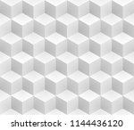 neutral gray cubes isometric... | Shutterstock .eps vector #1144436120