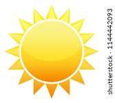 sun icon with jags as vector on ... | Shutterstock .eps vector #1144442093