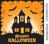 happy halloween background | Shutterstock .eps vector #1144442153