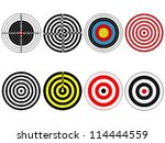 Set Of Eight Vector Targets ...