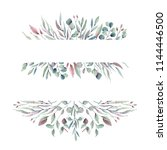 watercolor leaves collection.... | Shutterstock . vector #1144446500