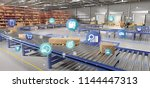 view of a logistic organisation ... | Shutterstock . vector #1144447313