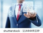 automation software technology... | Shutterstock . vector #1144449239