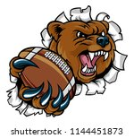 a bear angry animal sports... | Shutterstock .eps vector #1144451873