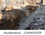 faults in earth surface.... | Shutterstock . vector #1144451939