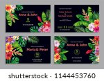 set of tropical hawaiian... | Shutterstock .eps vector #1144453760