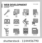 web development icon set | Shutterstock .eps vector #1144456790