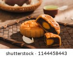 mooncakes which are vietnamese... | Shutterstock . vector #1144458443