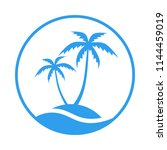 resort logo with sea and... | Shutterstock .eps vector #1144459019