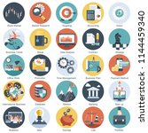 colorful icon set for business  ... | Shutterstock .eps vector #1144459340